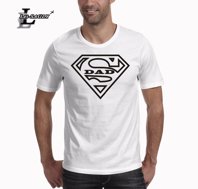 1fb36271 Lei-SAGLY Super Dad T Shirt Father's Day Gift Vaderdag T Shirt Fathers Day  Gift Summer Fashion O Neck Short Sleeves T-shirt