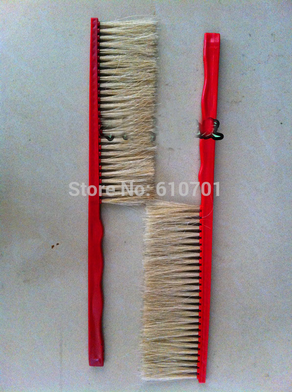 2PCS Natural Beekeeping Bee Hive Brushes 40cm long Plastic handle комплектующие для кормушек beekeeping 4 equipment121mm 91 158