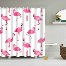 New Colorful Eco-friendly Flamingo Animal Dog Hippo Cat Polyester Waterproof High Quality Washable Bath Decor Shower Curtain