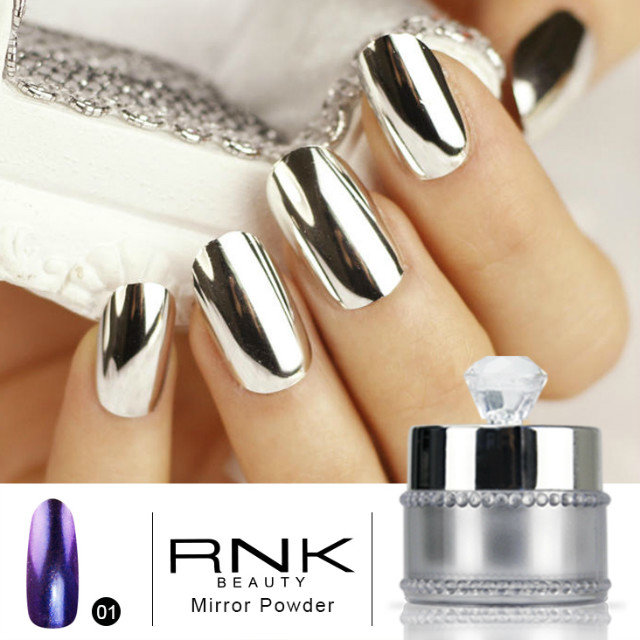 5g/pcs Dipping Nail Polish Mirror Effect Coating Chrome