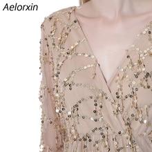 Aelorxin 2017 Summer Dress Women Sexy Sequin Tassel Beach Party Short Dress V-neck Vintage Office Dress Female Vestidos Bohemia