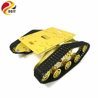 TS300 Shock Absorber Tank Chassis RC Tank Model with Dual DC 12V Motor+ Plastic Tracks+ Aluminum Alloy Wheels for Graduation
