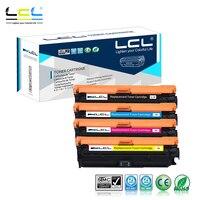 LCL 650A CE270A CE271A CE272A CE273A (4-Pack) מחסנית טונר תואם עבור HP Color LaserJet Enterprise CP5525  CP5525dn