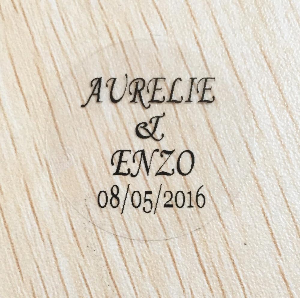 Round Wedding Invitation Label 1: 90 Pcs 5 CM Wedding Bridal Shower Labels Personalized Date