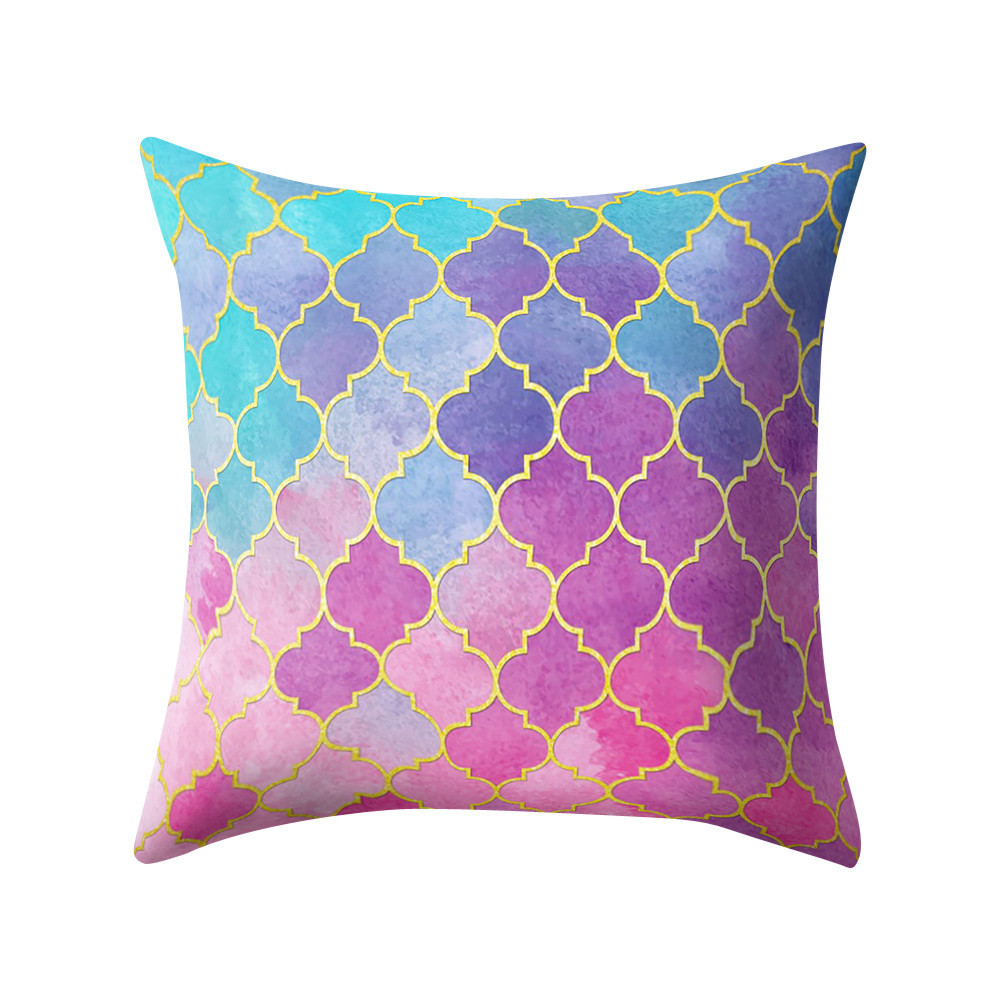 3D Rose Purple Volleyball Pattern Pillow Case 16 x 16