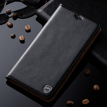 Genuine Leather Cover For Microsoft Nokia Lumia 950 XL Case Luxury Flip Stand