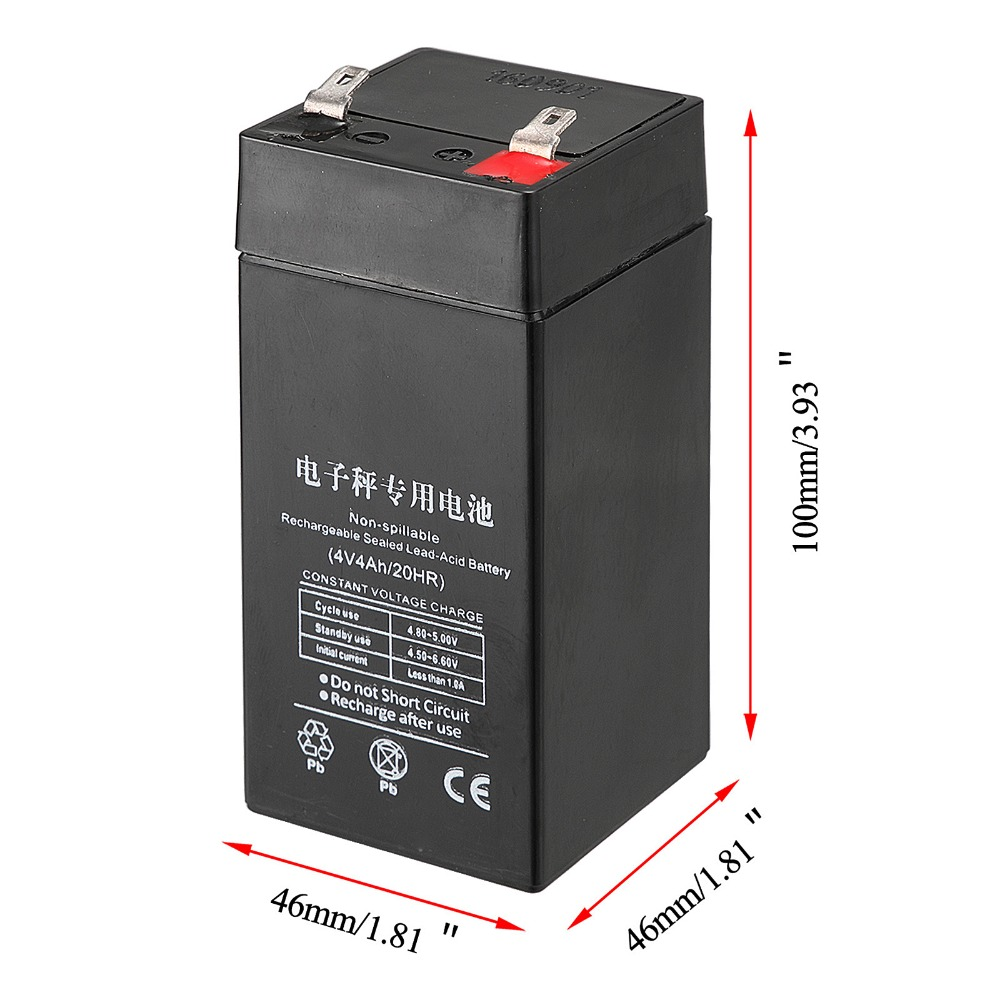 LiangTe Storage Batteries 4V4ah lead acid battery rechargeable battery Mainly for the LED flashlight desk lamp