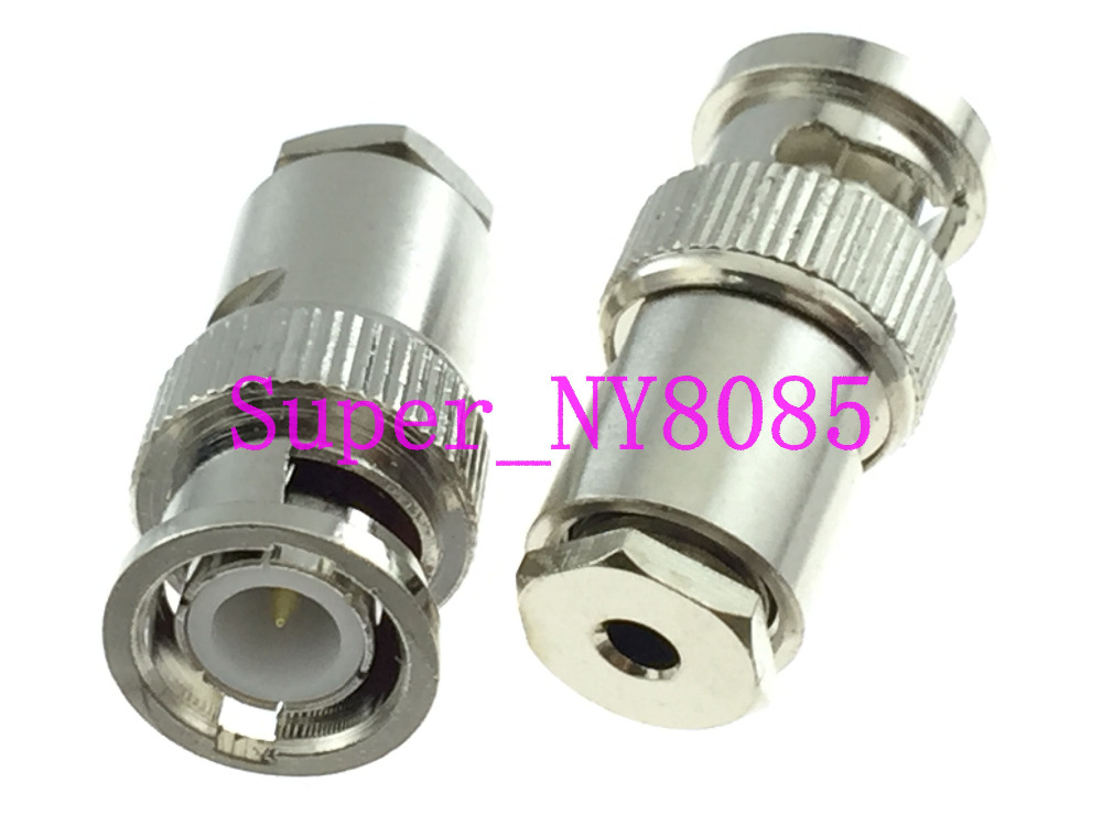 1pce Connector BNC male plug clamp RG174 RG316 LMR100 cable straight