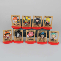 9pcs Set Anime One Piece Q Wanted Version Mini PVC Figures Toys Luffy Chopper Robin Boa