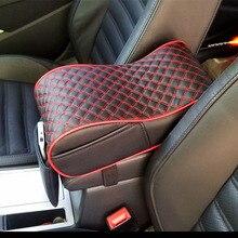 CNIKESIN Car Universal Armrest Box Mats Car Interior Armrest Pad Set PU Leather Styling Armrest Box Pad Armrest Top Mat Liner