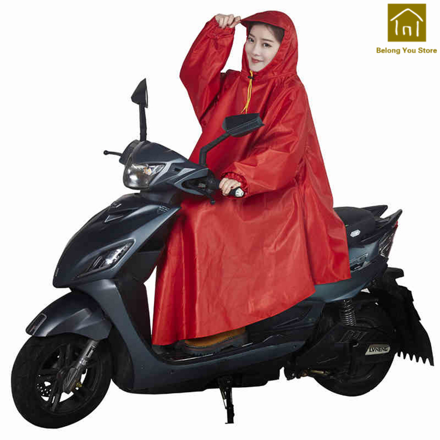 Safe Outdoor Soft Motorcycle Large Rain Poncho Polyester Cover Rain Raincoat Aikuisten Waterproof Raincoats Rain Gear WKR037