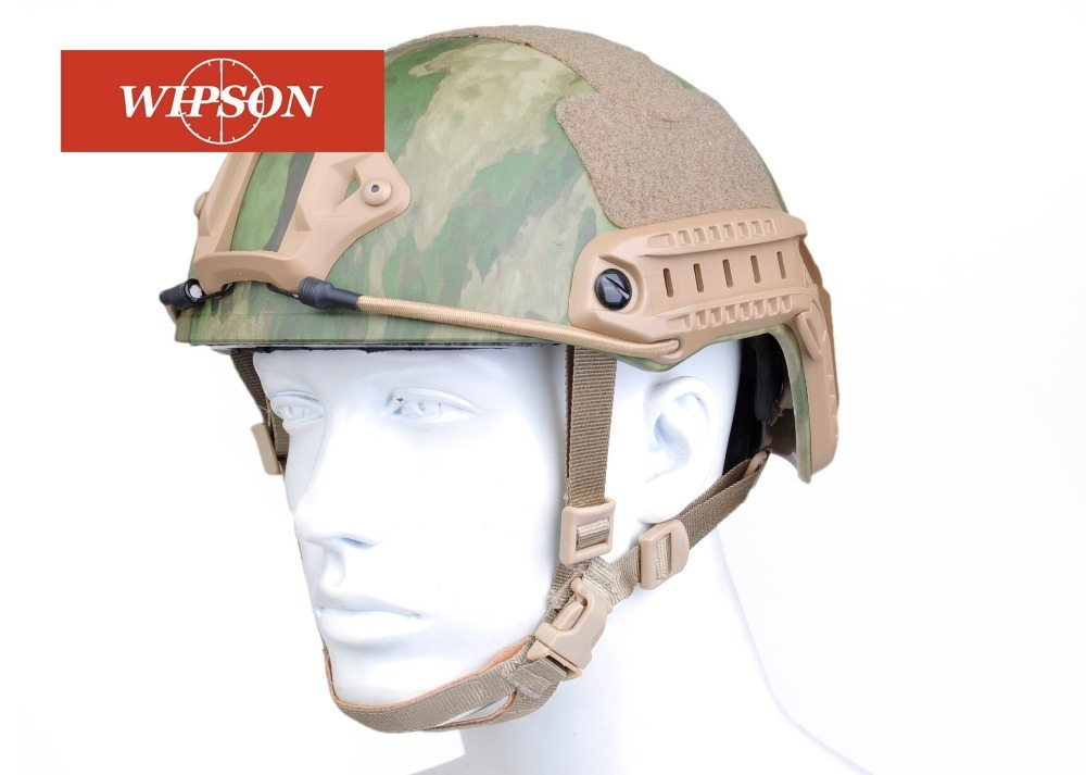 WIPSON Military Mich 2000 Tactical Helmet Airsoft Gear Paintball Head Protector with Night Vision Sport Camera Mount military m88 helmet accessory airsoft paintball combat helmet mount kit rhino nvg mount for night vision