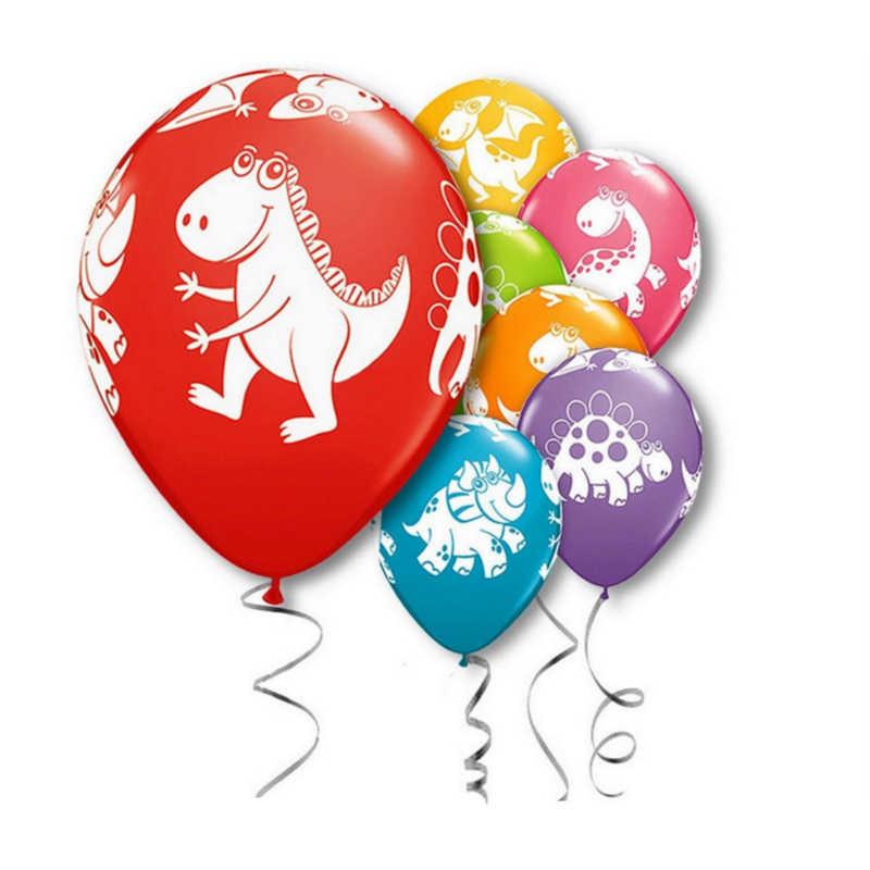 10 шт./упак. 12 дюймов джунгли динозавр латексные шары детская День рождения Baby Shower Свадебные украшения в стиле «Парк Юрского периода» с рисунком воздушных шаров