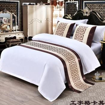 כחול פלינדרום סריג מיטת שולחן רץ חדש בסגנון הסיני דגל מיטת מלון ארון מצעים דקור לבית סלון חדר חתונה