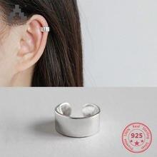 Bitwbi 1 шт уникальные 100% 925 серебряные серьги клипсы модные