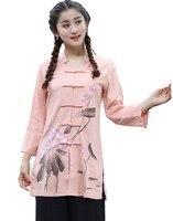 Shanghai Story tang suit women's Summer Chinese blouses china clothing Chinese Shirt Cheongsam tops Linen tops