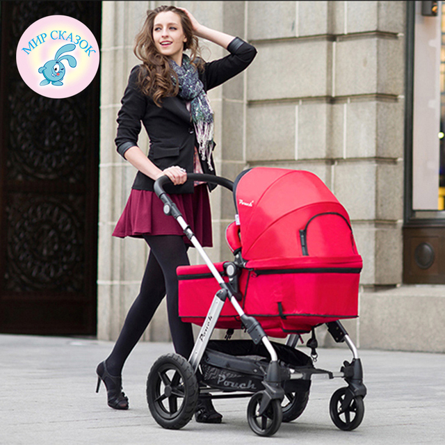pouch baby stroller baby carriage high landscape can sit lightweight shock car damping Russian free shipping