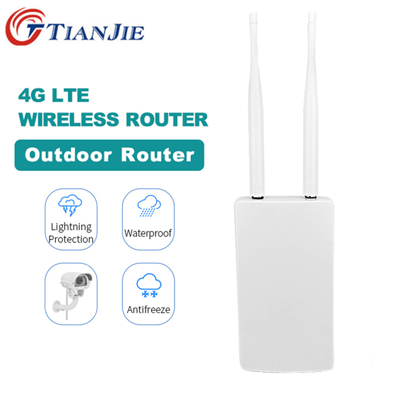 TianJie  4G AP/CPE Wifi Router Wireless Transmit Modem Mini Broadband Outdoor Gateway With WAN/LAN Port External Remove Antenna