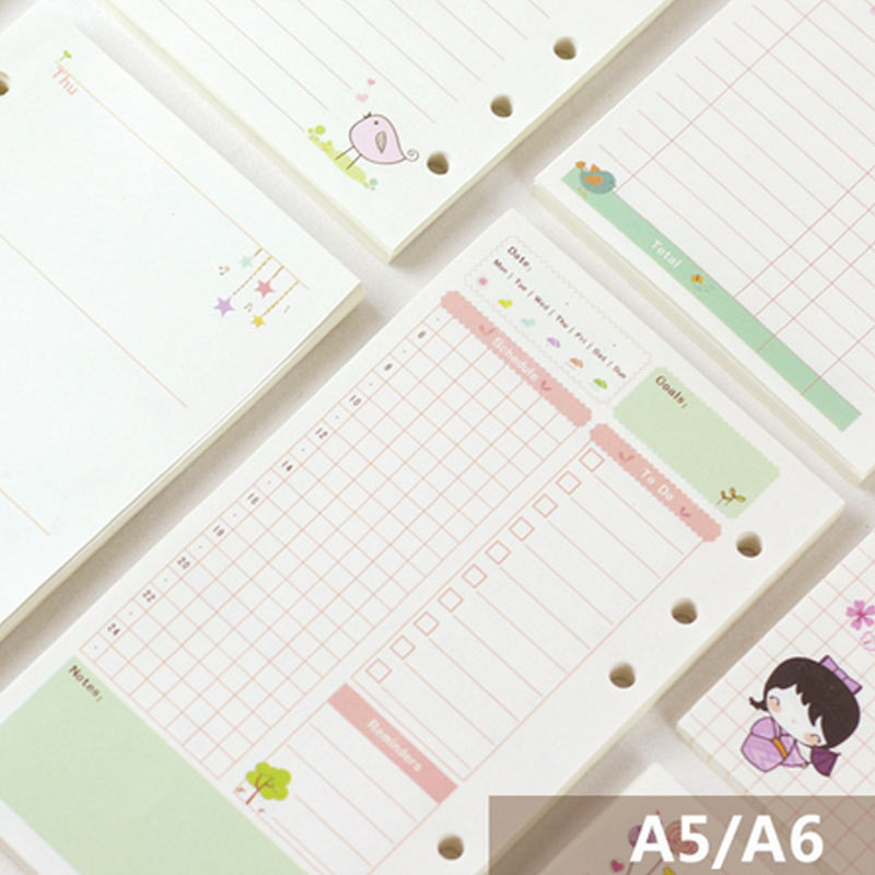 New Arrive Cartoon A5 A6 Loose Leaf Notebook Planner