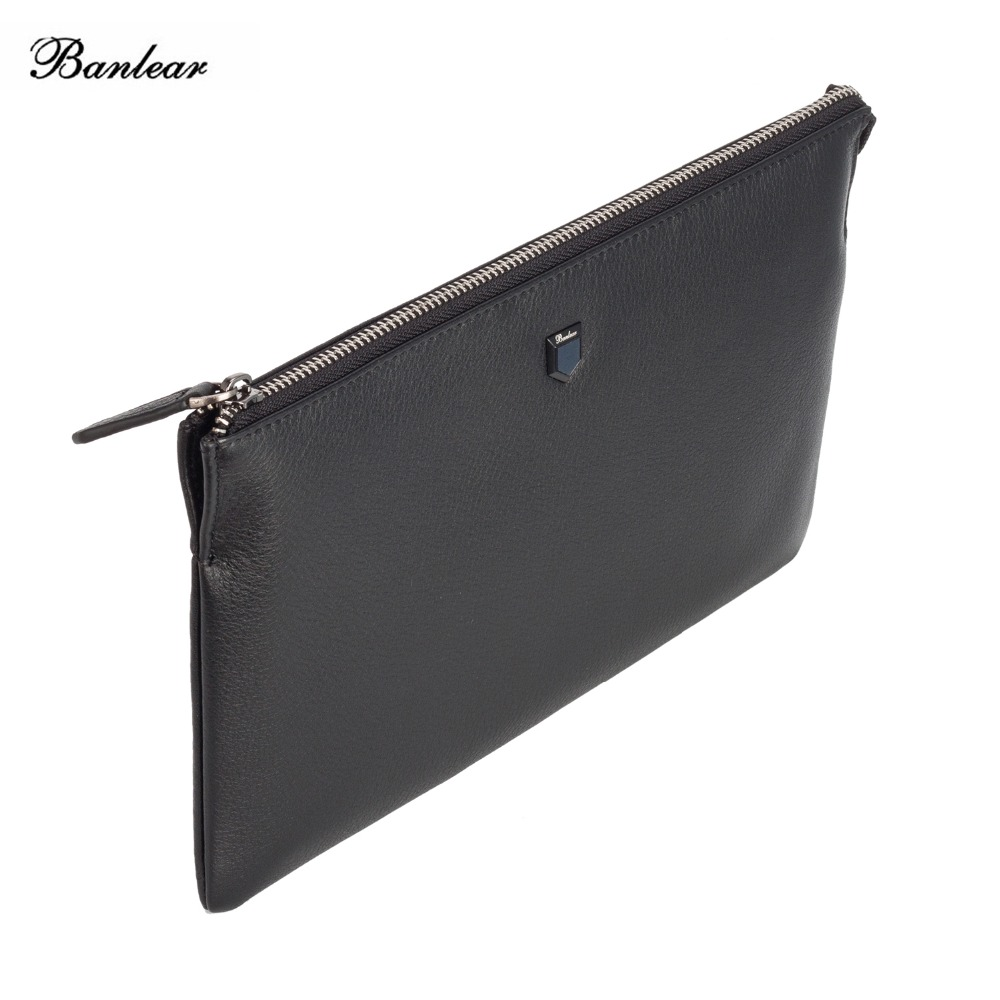 71d0e245d1be Banlear Men Envelope Clutch Handbag Genuine Leather Ipad Bag Business  Zipper Portfolio Large Wristlets Male Clutch Bags BL25129