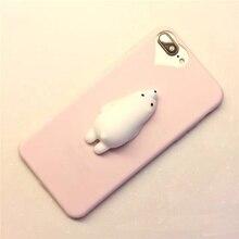 Polar Bear Squishy Phone Case for iPhone