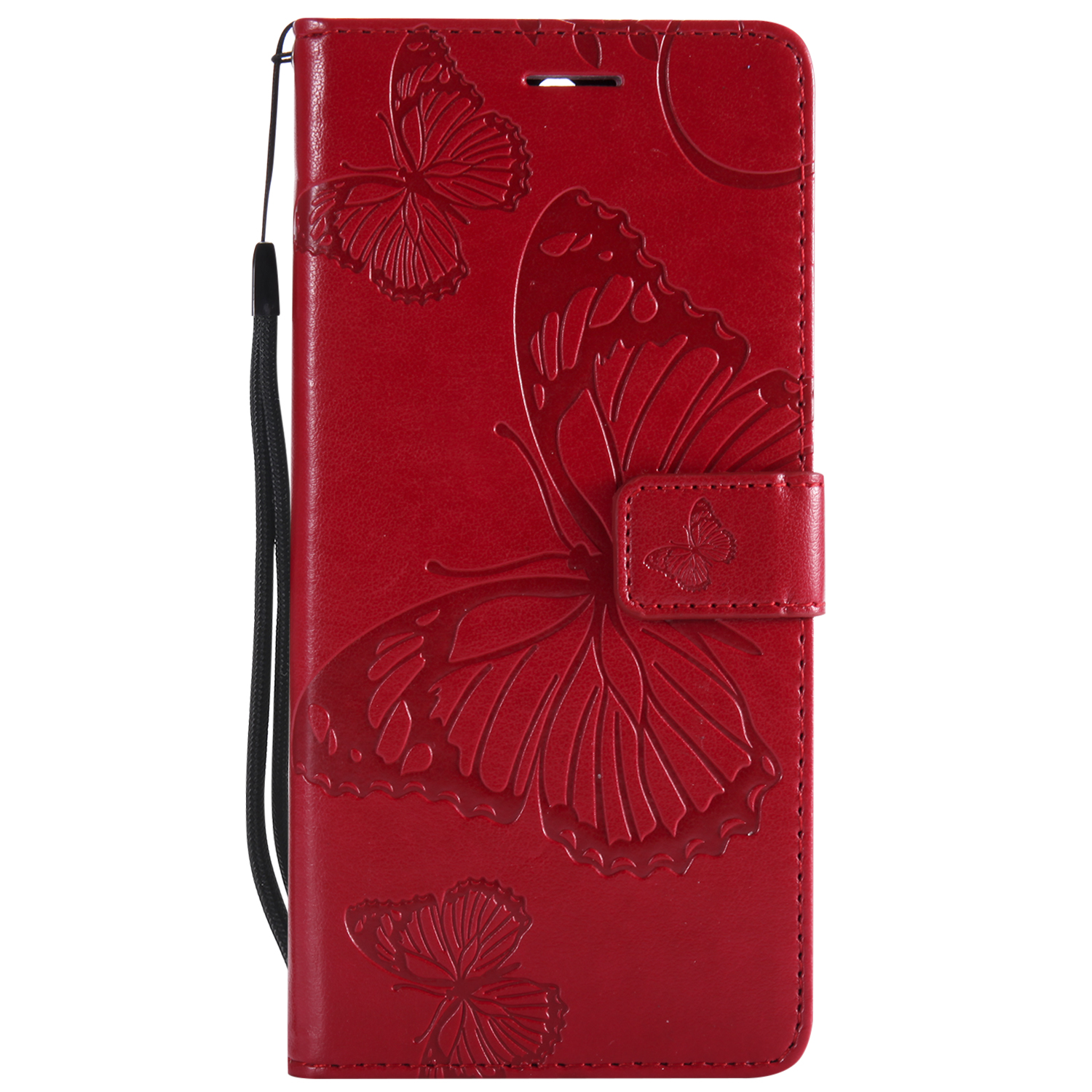 Butterfly For Huawei honor 5A 6X 6A V10 8C 8X 7C 7A case Book Style Wallet