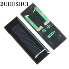 BUHESHUI 0.125W 0.5V Polycrystalline Mini Solar Panel SolarCells Module Education Kits Study Epoxy 53*18*2MM Wholesale 300pcs