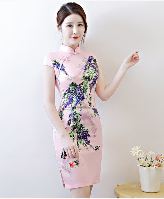 5b786fd253e2d US $18.0 |Aliexpress.com : Buy Free shipping 2018 new cheongsam fashion  qibao Chinese dress free shipping from Reliable chinese dress suppliers on  Tai ...