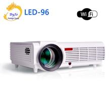 BT96 LED96 wifi led proyector 3D android Proyector wifi hd proyector 1080 p HDMI de Vídeo Multi pantalla de proyector de cine en casa básica