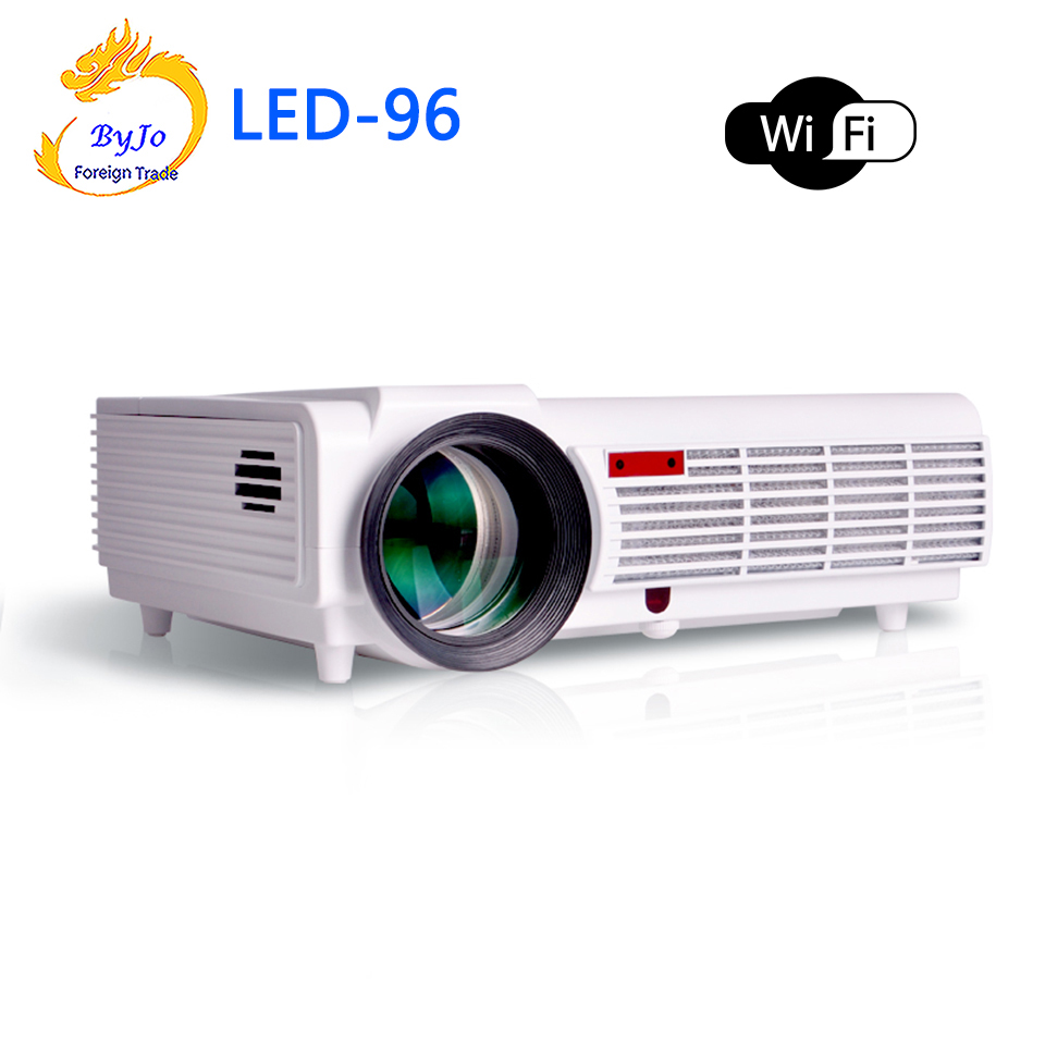 LED96 wifi led projector 3D android wifi hd BT96 proyector 1080p HDMI Video Multi screen home theater Home theater system wzatco led96 tv projector full hd 1080p android 4 4 wifi smart rj45 3d home theater video proyector lcd projector beamer for ktv