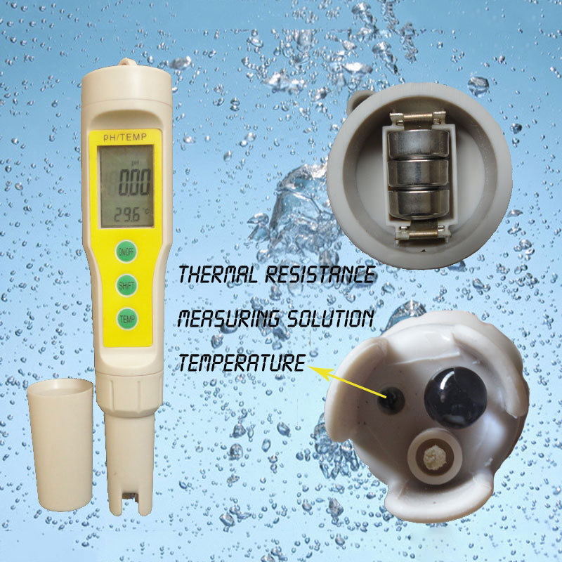 2 in 1 High Accuracy 0.0-14.0pH Digital PH Meter and Thermometer Portable PH Tester for Aquarium Pool Laboratory medidor de PH  цены