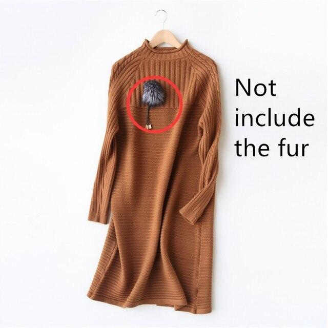 Camel Trui Dames.Herfst Winter Fashion Vrouwen Trui Gebreide Trui Jurk Rood Groen