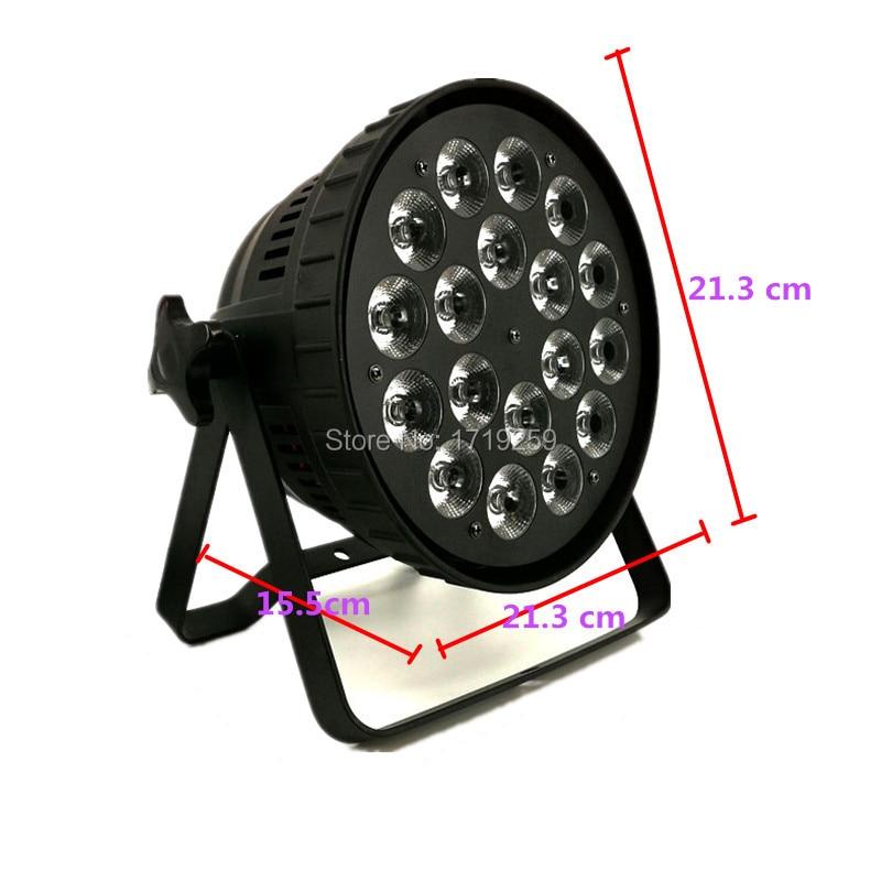 Image 2 - LED Par 18x15W RGBWA 5in1 LED Par Can Par led DMX Stage Lights spotlight wash lighting stage for DJ Disco KTV Aluminum alloy-in Stage Lighting Effect from Lights & Lighting