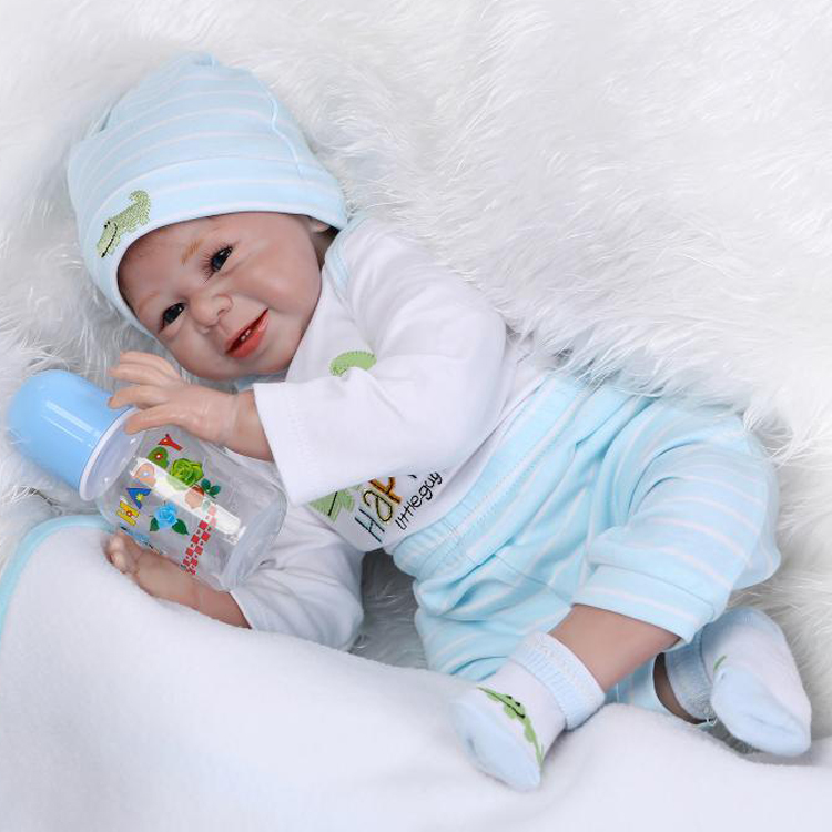 Bebes reborn 22inch 55cm silicone reborn baby boy dolls NPK brand fashion dolls reborn wholesale  kids gift toy dollsBebes reborn 22inch 55cm silicone reborn baby boy dolls NPK brand fashion dolls reborn wholesale  kids gift toy dolls