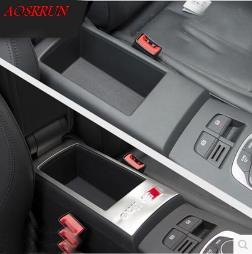 Armrest box panel cover trim chrome stainless steel sequin s line logo for audi A3 2013 2014 2016 hatchback sedan car-styling