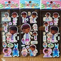 3 hojas/set Doc. Mcstuffins 3D pegatinas de pared para niños decoración Casera de la pared en la computadora portátil Regalos lindos para los niños en las fuentes del partido!!!