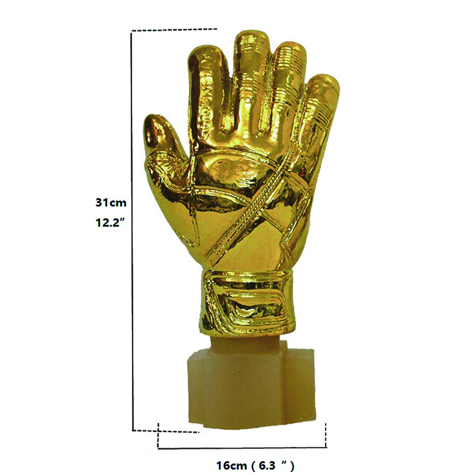 31cm Height Gold Soccer Football Ball Goalkeeper Gloves Award Resin Best  Goal Keeper Trophy Goalkeeper World Cup Fans Souvenirs-in Sports Souvenirs  from ... 8181e3d7a45e