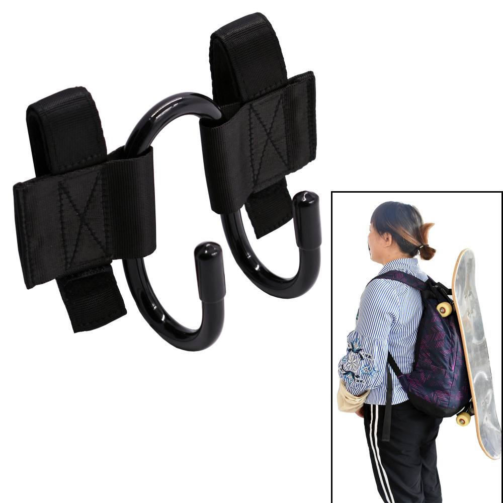 Backpack Attachment Carrier Hanger Rack Hook Holder For Carrying Skateboard- Fit Most Backpacks - Easy To Use