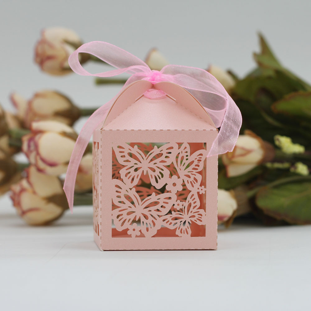 50Pcs Sweet Married Wedding Favor Box Gift Boxes Candy Paper Party ...