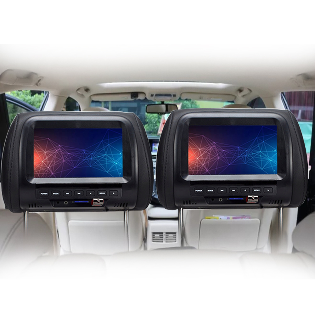 7inch LCD Built-in Speakers Durable Touchable Button Multifunction With USB Practical Car Monitor Universal Headrest Screen