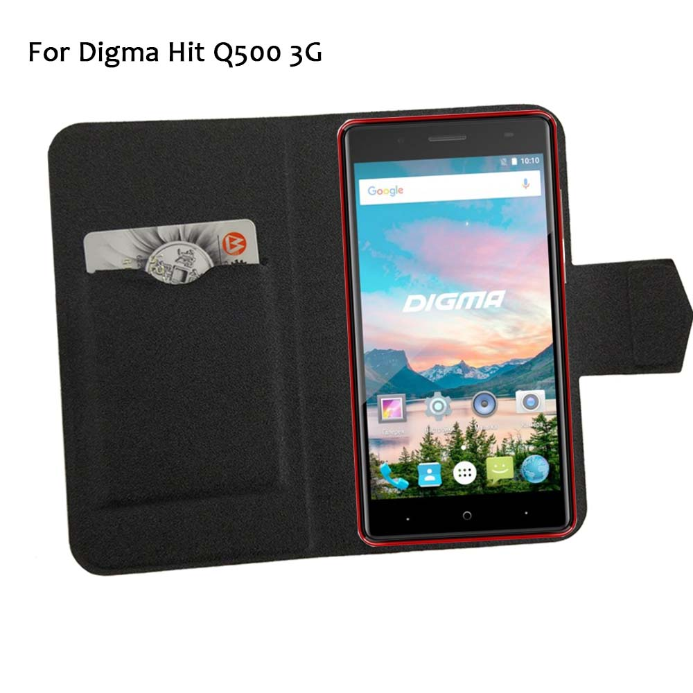 5 Colors Hot! Digma Hit Q500 3G Case Phone Leather Cover,Factory Direct Luxury Full Flip Stand Leather Phone Shell Cases