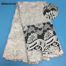 ZEBIAOCAO 2018 Wholesales new arrival lace fabric for wedding/party dress,African mesh with Rhinestones and besds.