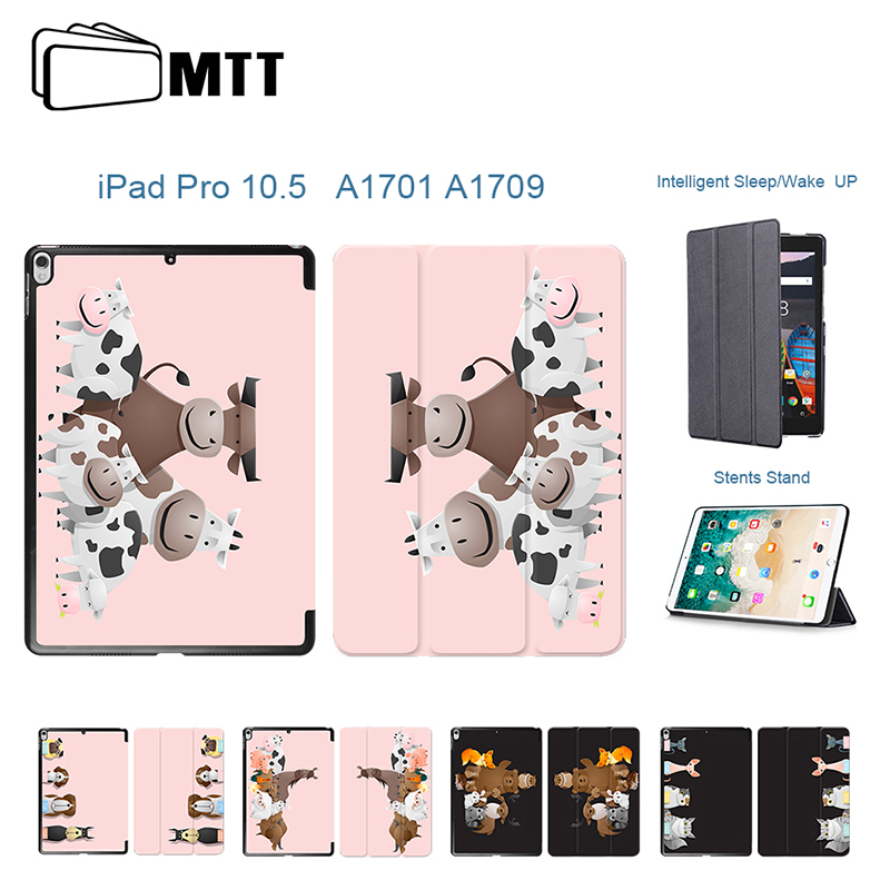 2017 New PU Leather Slim Smart Cover For Apple iPad Pro 10.5 Case Printed Farm Cows Wake up Sleep For iPad 10.5 Case A1701 A1709 for apple ipad pro 10 5 case 2017 new pu leather slim smart cover w pencil holder wake sleep function for ipad pro 10 5 case