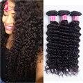 Бразильский глубокий вьющиеся волосы девственницы грейс компания волос натуральный черный 3 bundle предложения 7а бразильский девственные волосы бесплатная доставка глубокая волна