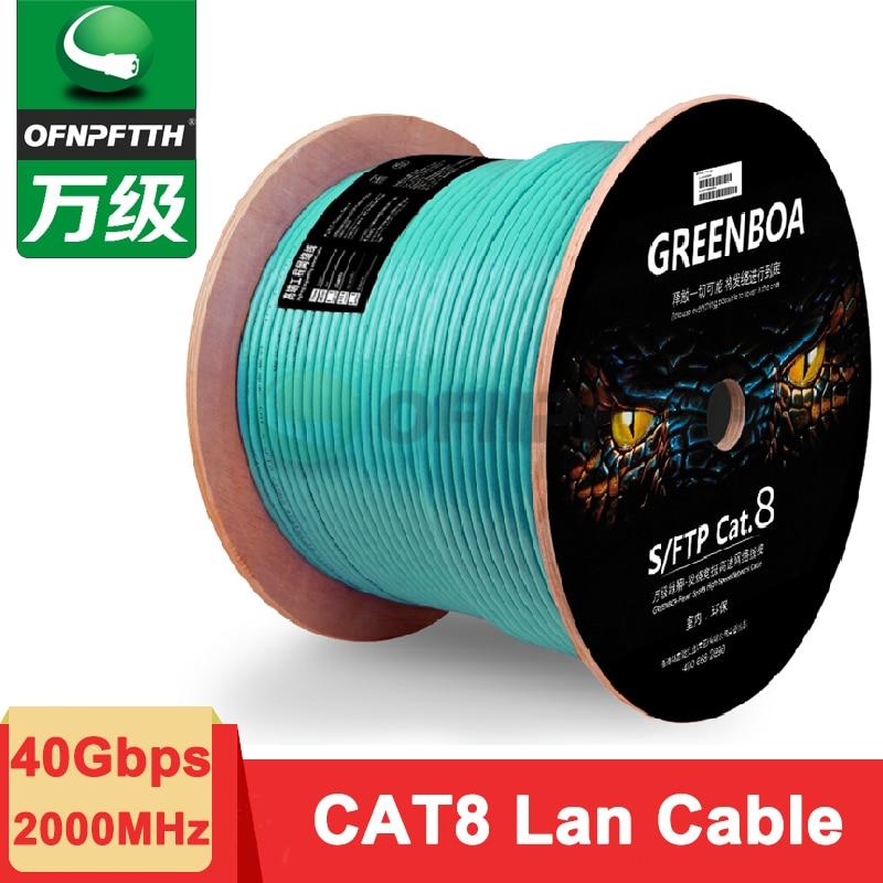 OFNPFTTH CAT8 Lan Cable 40G SFTP Oxygen Free Copper LSZH Jacket Aqua Color