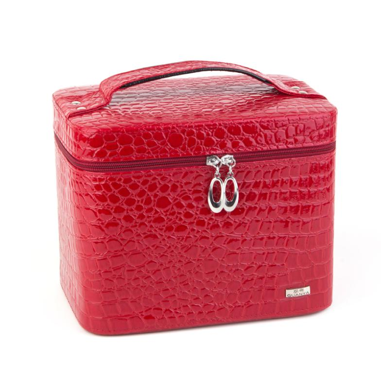 Free Shipping makeup case professional Pro Beauty LUXURY LEATHER Makeup Nail Cosmetic Salon Box Vanity Case Bags цена