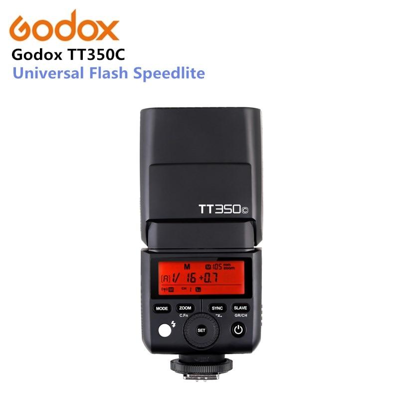 D'origine GODOX TT350C Universel Flash 2.4g HSS GN36 TTL Mini flash Speedlite Pour Canon EOS 800D 650D 600D 750D 77D M5 M3