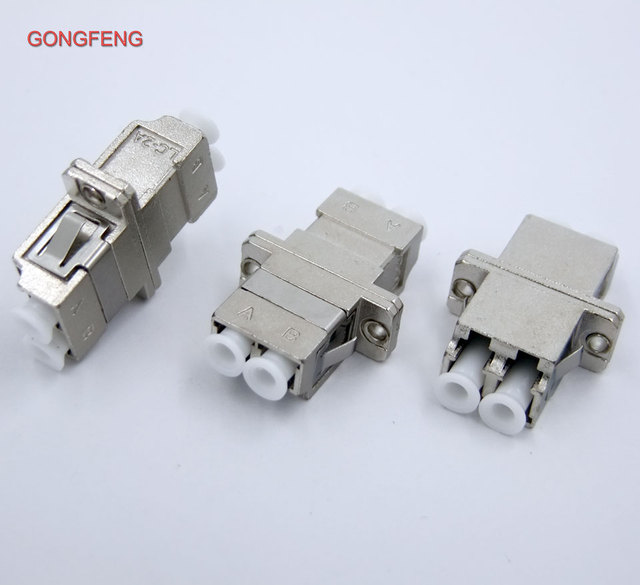 US $18 6 |10PCS New Hot Optical Fiber Connector LC/PC/APC Single Mode  Multimode Adapter Flange Coupler duplex Coupler Free shipping -in  Connectors