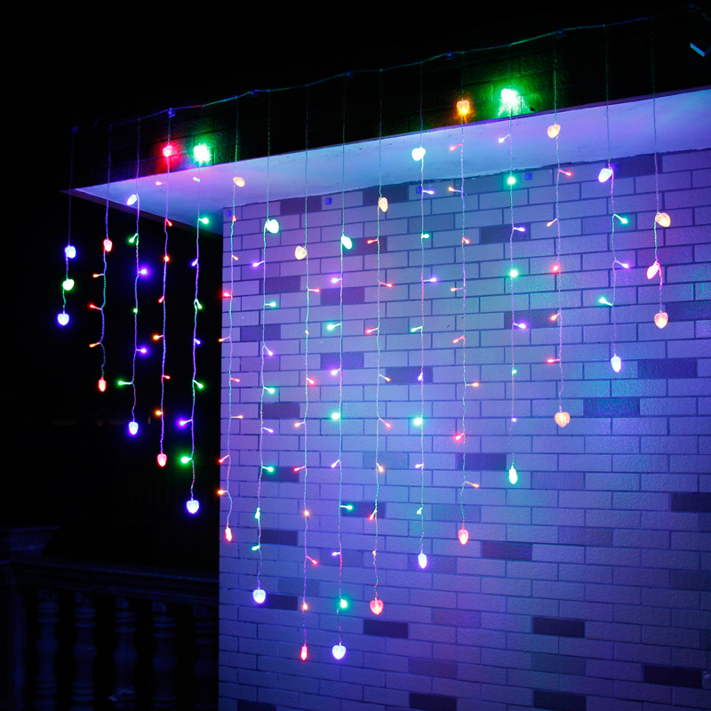 2Mx1M LED Icicle String Lights Christmas Xmas Fairy Lights Outdoor Home For Wedding/Party/Curtain/Garden Decoration Indoor window curtain led string white lights 3m x3m for xmas wedding party decor 220v eu plug party decorations 304 led