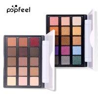 15 Color Eye Shadow luminous Glitter Natural Easy to wear Shimmer Waterproof Matte Eyeshadow Palette Makeup